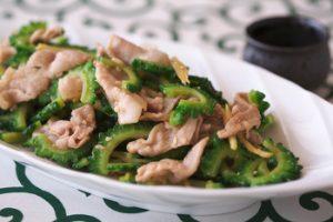 ゴーヤーと豚肉の生姜炒め