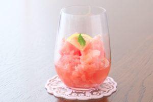 スイカの日本酒ソルベ ※アルコール使用