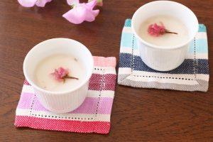 日本酒の桜プリン
