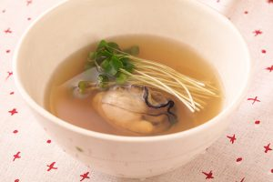 牡蠣のスープ