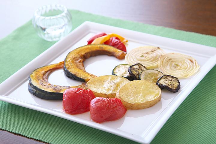 夏野菜のオイル焼き