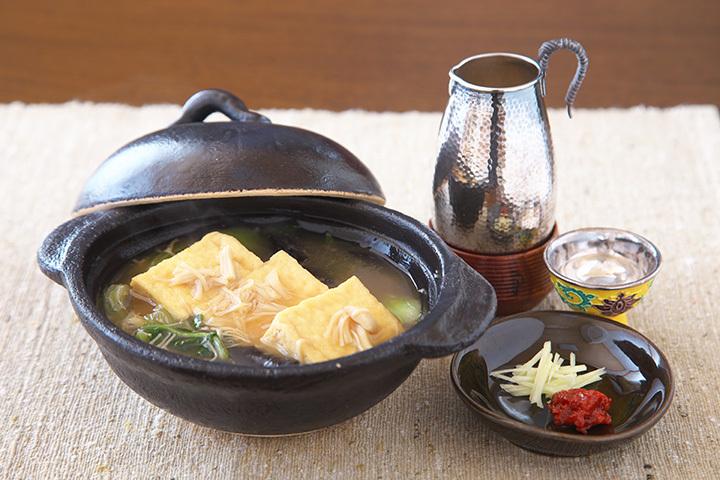 帆立のとろとろ湯豆腐