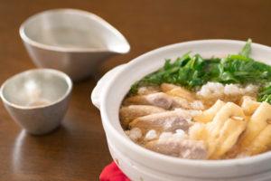 鴨と水菜のおろし鍋