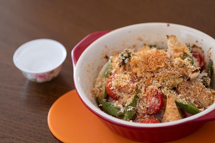 春野菜の焼きサラダ