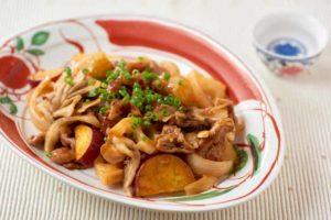 豚肉と秋野菜の甘酢あん