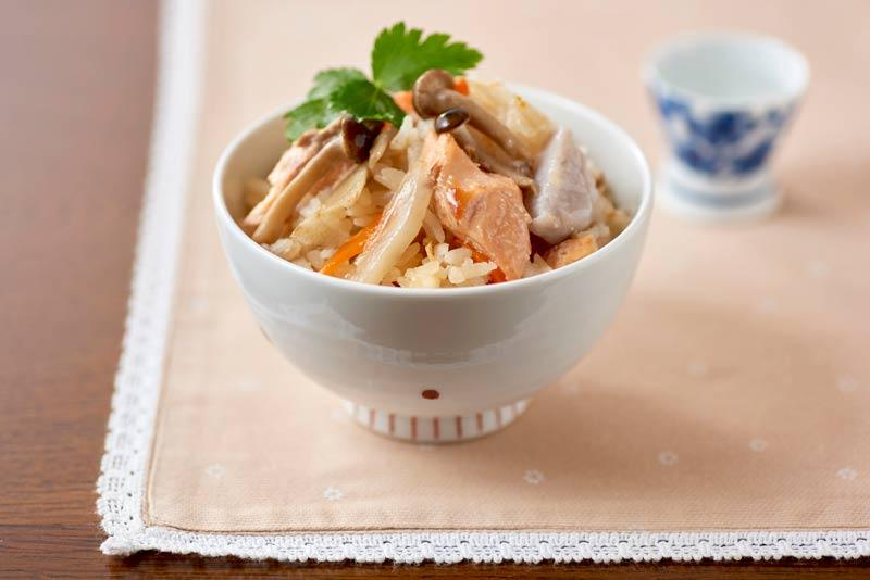 秋鮭のごちそうご飯